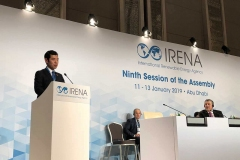 アラブ首長国連邦、国際再生可能エネルギー機関(IRENA)第9回総会