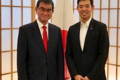 河野太郎大臣の下、政務官として外交の一端を担う